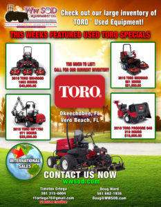 used TORO turf equipment